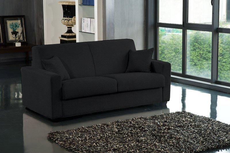 canape lit 2 3 places dreamer microfibre noir convertible. Black Bedroom Furniture Sets. Home Design Ideas