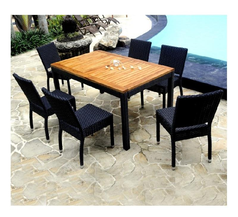 ENSEMBLE DE JARDIN TABLE 200-300 CM 12 PLACES TECK HUILÉ - WOOD-EN ...