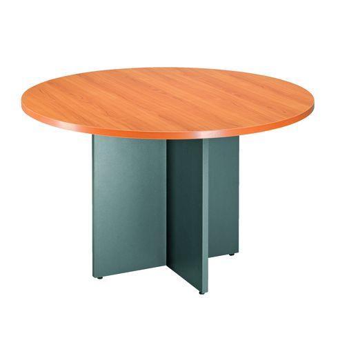 table ronde 120 cm excellens plateau merisier pieds croix bruneau comparer les prix de table. Black Bedroom Furniture Sets. Home Design Ideas
