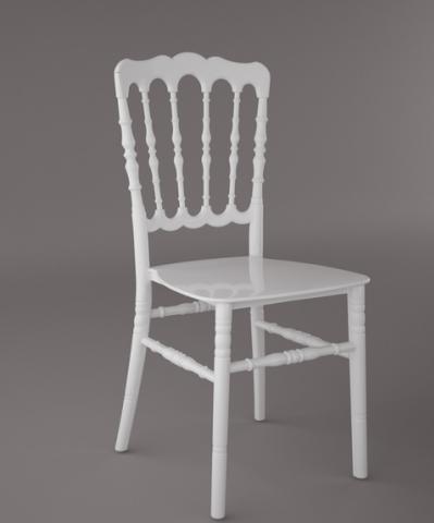 Chaise Napoleon Iii Plastique Blanche