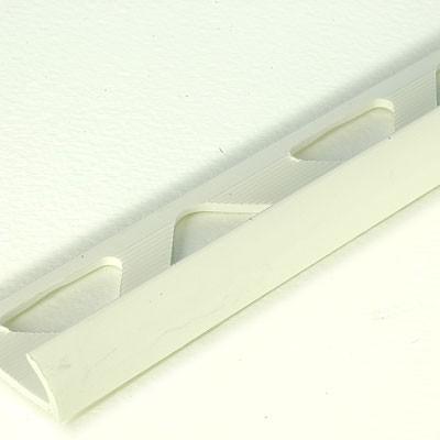 PROFILÉS EN PVC - 1/4 DE ROND PVC 10 MM 2.50 ML BLANC