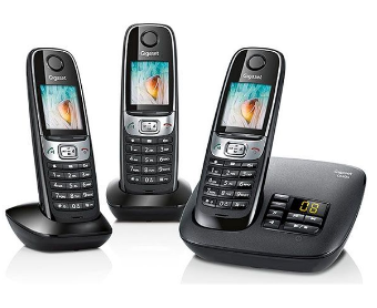 telephone avec repondeur gigaset c620a trio noir. Black Bedroom Furniture Sets. Home Design Ideas