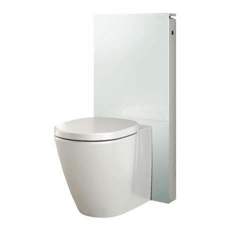 pack panneau wc blanc avec cuvette au sol 39 monolith 39 comparer les prix de pack panneau wc blanc. Black Bedroom Furniture Sets. Home Design Ideas