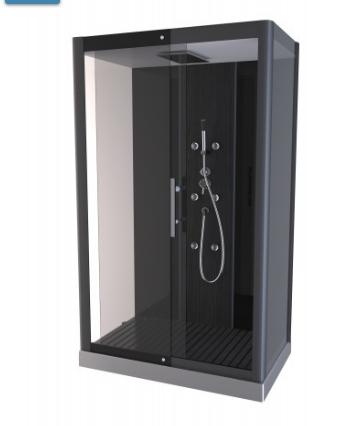 cabine de douche 39 phantom 39 gris. Black Bedroom Furniture Sets. Home Design Ideas