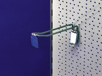 crochet double pour panneau perfore 300 mm 15 mm. Black Bedroom Furniture Sets. Home Design Ideas
