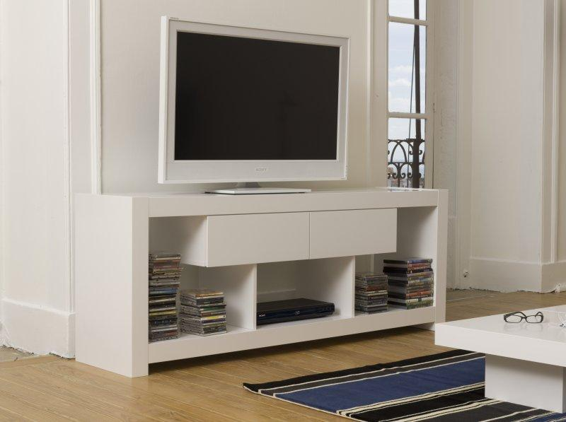 temahome nara meuble tv laque blanc tiroirs design. Black Bedroom Furniture Sets. Home Design Ideas