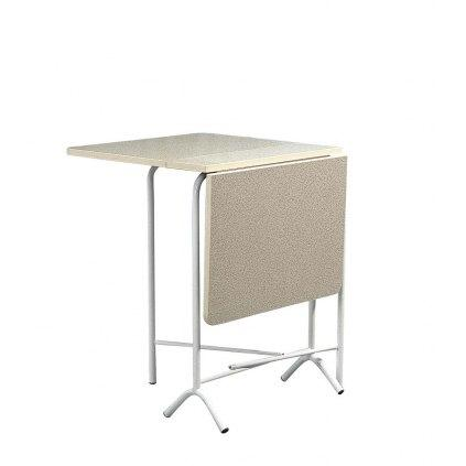 Table d 39 appoint pliante tp16 rectangulaire a volets for Table cuisine ronde pliante