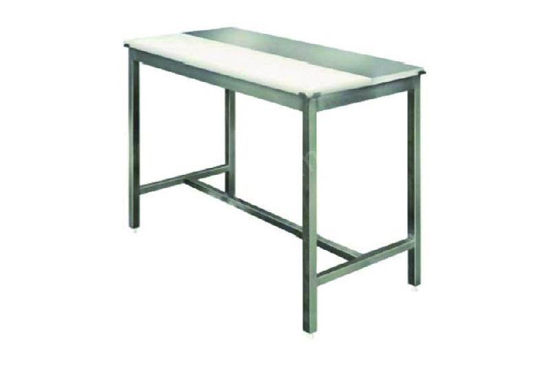 TABLE DE DÉCOUPE MIXTE PROFESSIONNELLE 25 MM EN INOX - 700 X 2400 MM