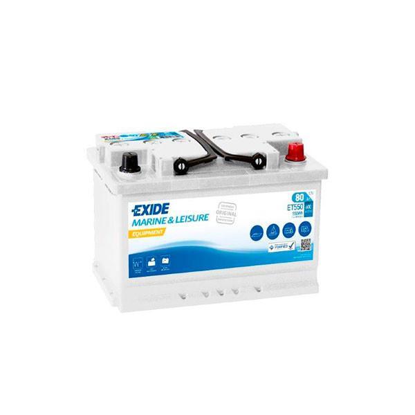 Batterie bateau exide equipment et550 (550wh) 12v 80ah auto