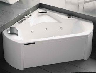 baignoire d angle baln o kinedo pure design 140x140 cm. Black Bedroom Furniture Sets. Home Design Ideas