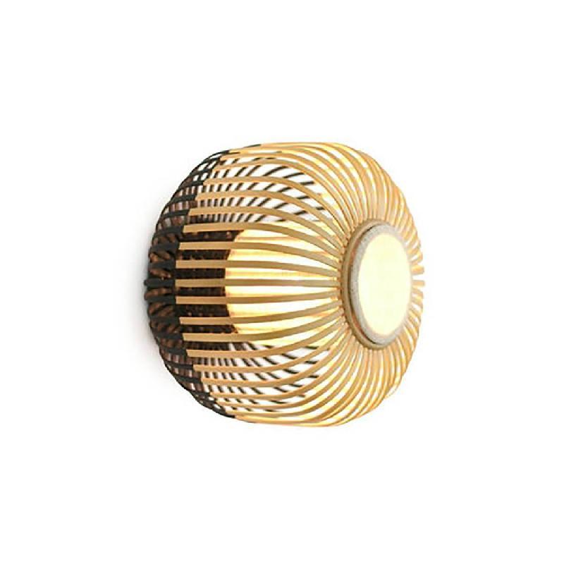 En Avec Et Interrupteur Bamboo Murale Bambou Applique Prise Ø60cm 3AR54Lj