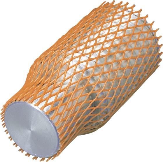 Grillage tubulare plastique