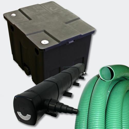 Kit de filtration de bassin 12000l stérilisateur uvc 72w 5m tuyau 4216491
