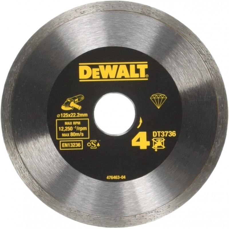 Dewalt dt3736-xj disque fritté pour le carrelage 125x22.2mm, hauteur segment 7mm 22.2