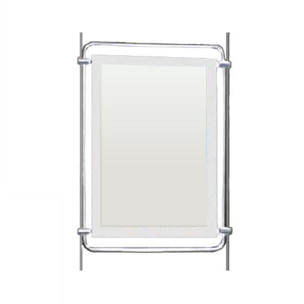Porte-affiche lumineux led a4 portrait-vertical simple face - réf.091251m