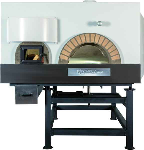 FOUR A PIZZA PROFESSIONNEL ROTATIF MIXTE BOIS/GAZ