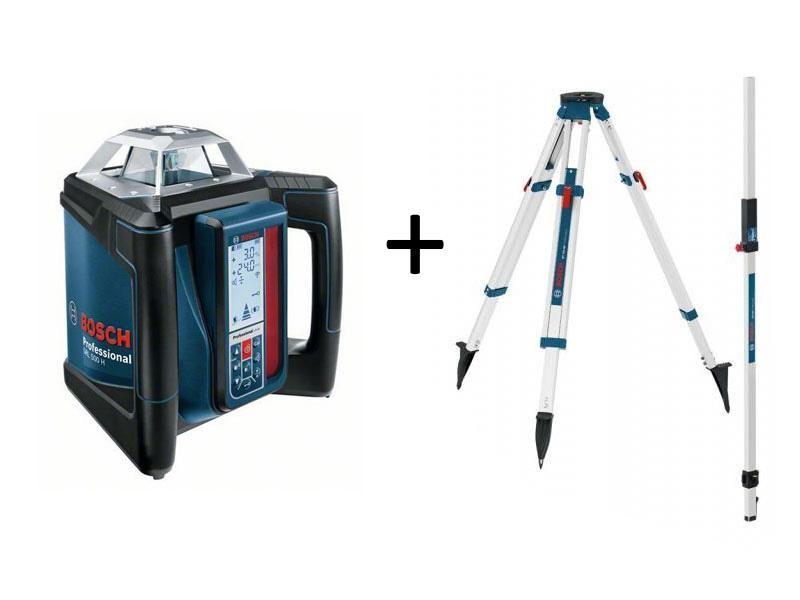 Laser rotatif horizontal bosch grl 500 h tr pied bt170 for Trepied pour laser bosch