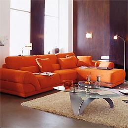 Atlas produits canapes d 39 angle for Canape cuir orange contemporain