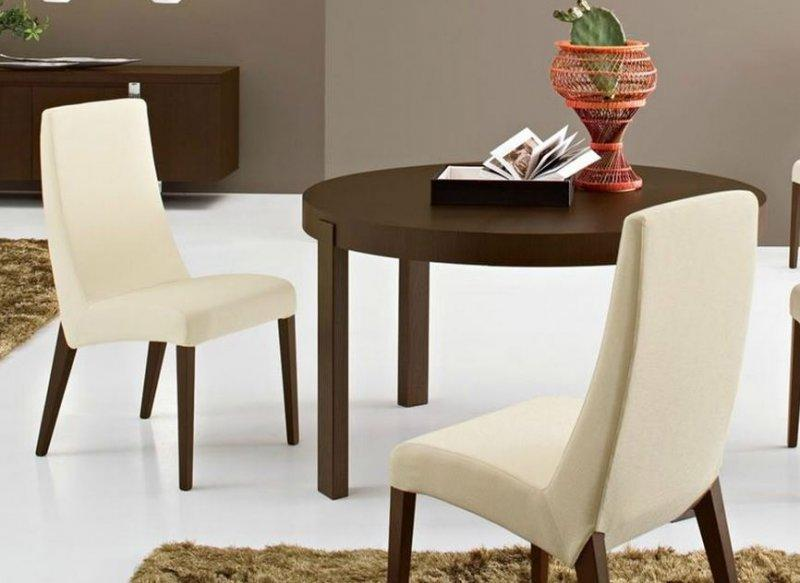 calligaris table repas extensible ronde atelier 130x130 en bois. Black Bedroom Furniture Sets. Home Design Ideas