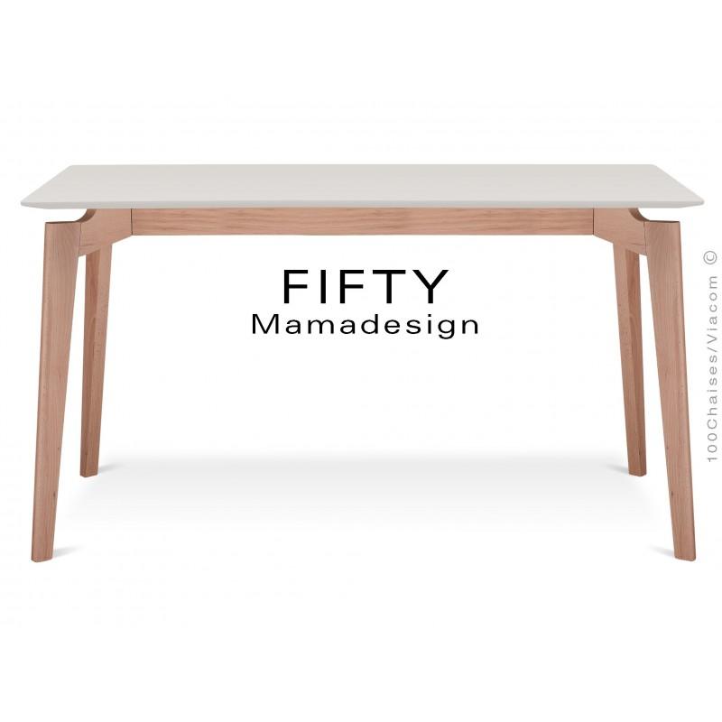 Table a manger rectangulaire en bois de hetre fifty - Table a manger rectangulaire ...