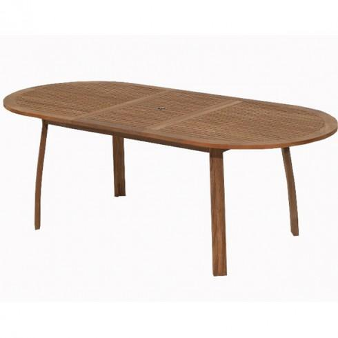 Table De Jardin Bois Teck Table Rallonge 1 80m 2 20m Ovale