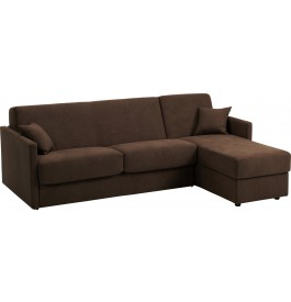 canape d 39 angle rapido convertible ciak microfibre chocolat. Black Bedroom Furniture Sets. Home Design Ideas