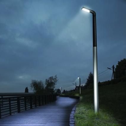 photos lampadaires solaires pour l 39 eclairage public page. Black Bedroom Furniture Sets. Home Design Ideas