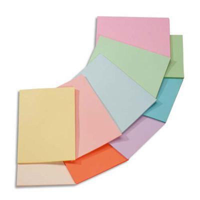 papier couleur troph e coloris assortis pastel rose canari vert bleu saumon 80g a3 ramette. Black Bedroom Furniture Sets. Home Design Ideas