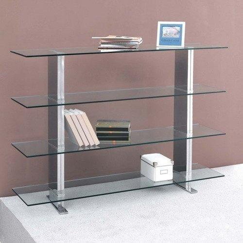 Brick etagere bibliotheque verre metal design - Etagere metal design ...