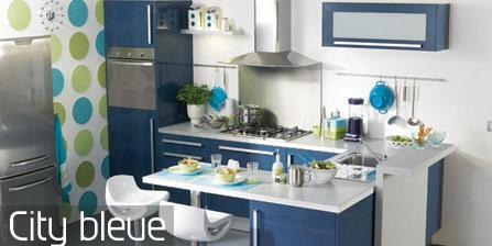 cuisine nouvelle tendance city bleue. Black Bedroom Furniture Sets. Home Design Ideas