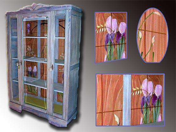 Armoire cerusee meuble peint for Meubles peints technique
