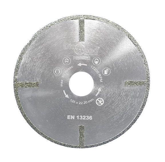 DISQUE DIAMANT PRO SUB-ZERO D. 125 X AL. 22,23 X HT. 5 MM - VERRE, MARBRE, FIBRE DE VERRE - DIAMWOOD PLATINUM - -