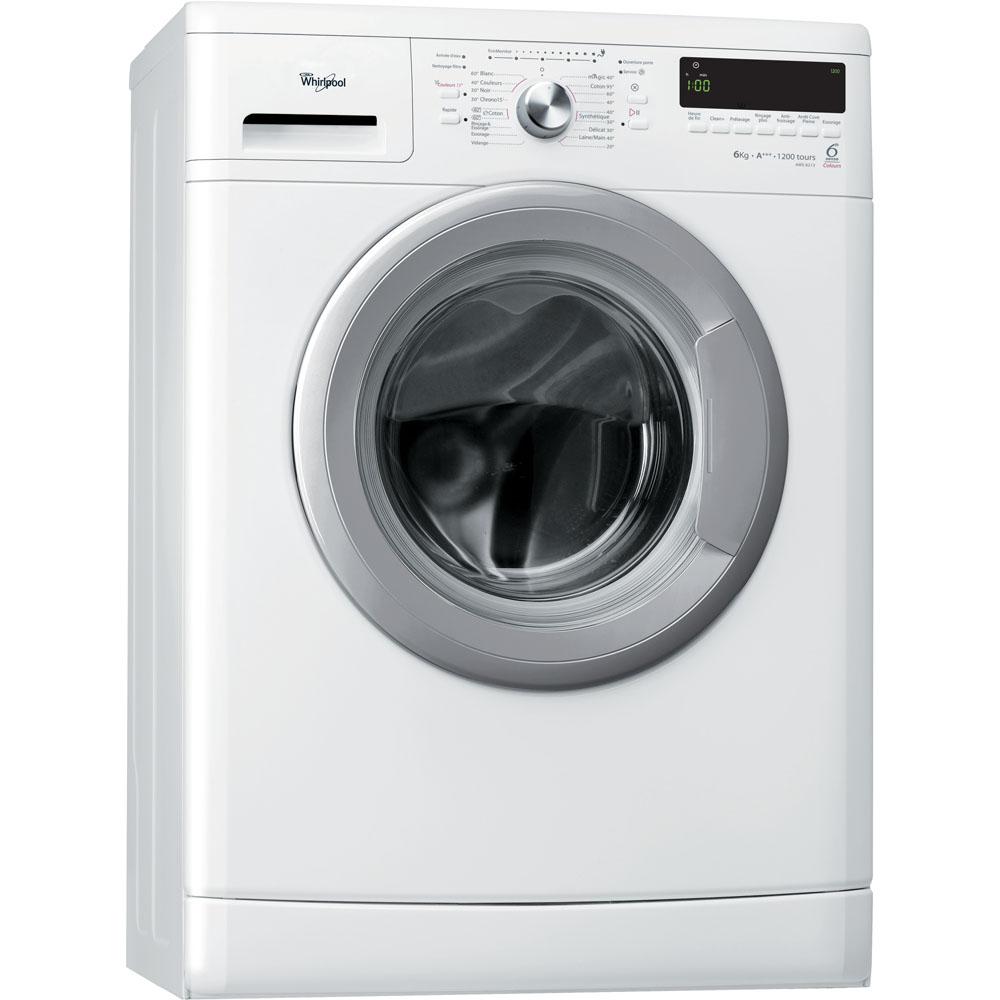 Lave-linge de maison whirlpool hublot posable : 6 kg - aws 6213