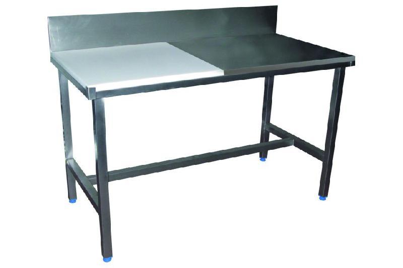 TABLE DE DÉCOUPE MIXTE CÔTÉ PROFESSIONNELLE 25 MM EN INOX - 700 X 1200 MM