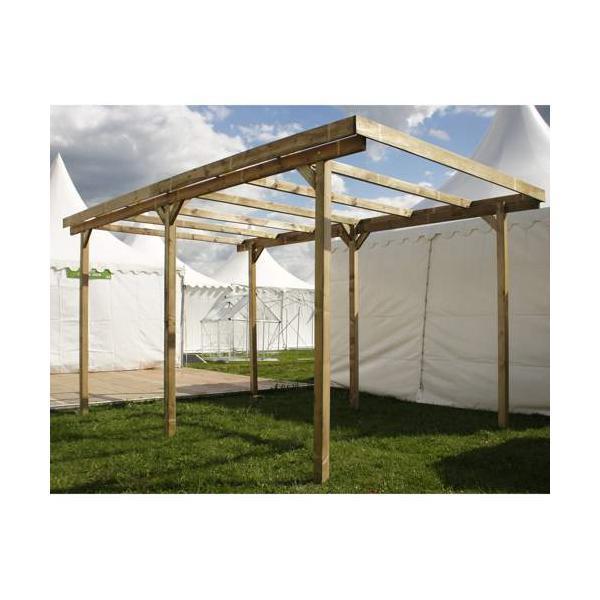 Carport en bois avec couverture imperia chalet - Couverture chalet de jardin ...
