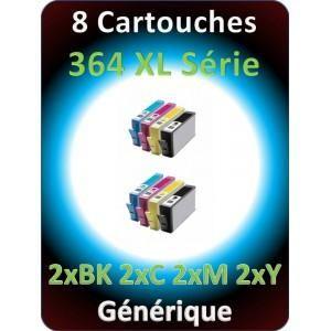 HP PACK DE 8 CARTOUCHES 364XL GÉNÉRIQUES