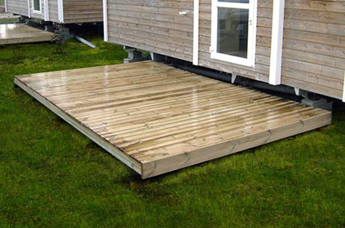 Terrasses complètes plancher 14 cm de haut