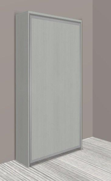 armoire lit escamotable cronos chene gris couchage 90 22 200 cm. Black Bedroom Furniture Sets. Home Design Ideas