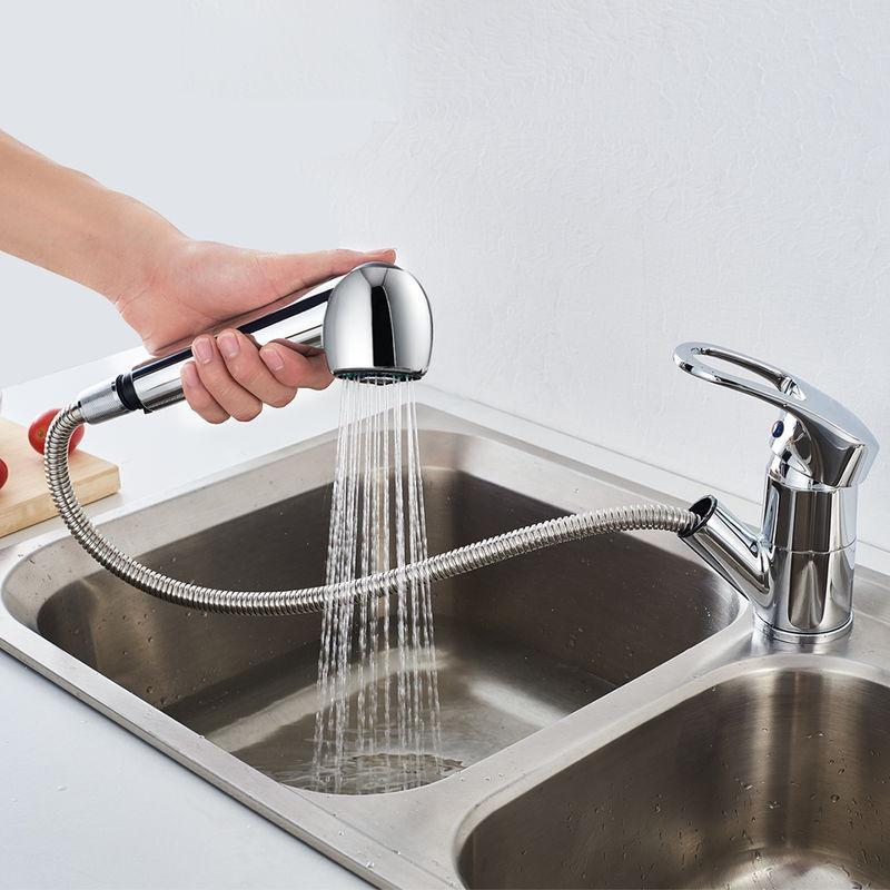 auralum top robinet de cuisine chrome 360 rotatif mitigeur d evier eurostyle avec douchette extractible