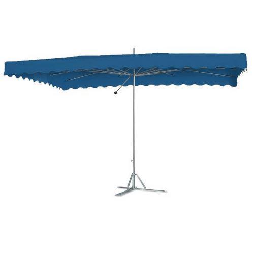 parasol rectangulaire bleu