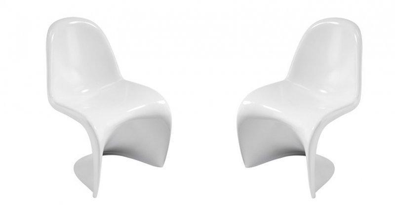 slash chaise blanche design empilables - Chaise Blanche Design