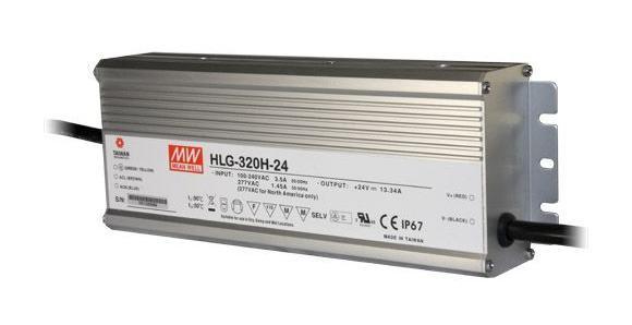 TRANSFO MEANWELL 24VDC 320W IP67 DIM 1-10 ALU - HLG-320H-24B