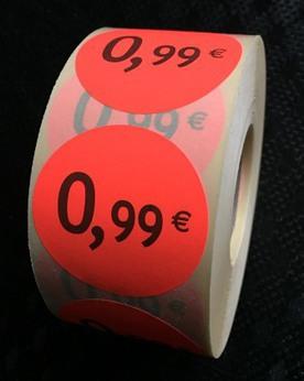 Etiquette 0,99eur