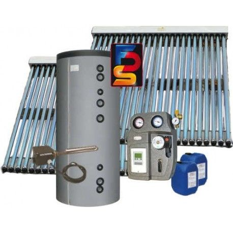 kit chauffe eau solaire 400 litres capteurs a tubes sous vide. Black Bedroom Furniture Sets. Home Design Ideas