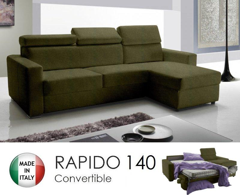 Canape d 39 angle reversible rapido sidney 140 cm coffre tetieres reglabl - Canape d angle rapido ...
