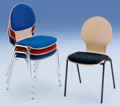 chaise coque en bois si ge 4 pieds assise rembourr e habillage framboise pi tement laqu. Black Bedroom Furniture Sets. Home Design Ideas