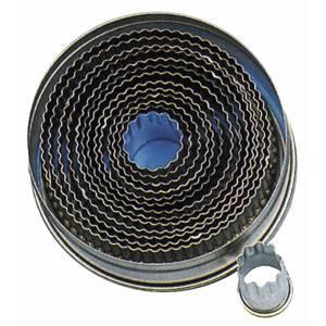 emporte piece rond a bord ondule set de 14 materiau fer blanc o 2 0 cm 10 5 cm. Black Bedroom Furniture Sets. Home Design Ideas