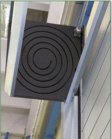 Porte rapide / rigide / à enroulement / en métal / utilisation intérieure et extérieure / 5000 x 6000 mm