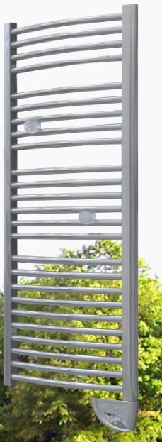 seche serviettes electrique tubes galbes peinture innovante effet chrome anthemys silver. Black Bedroom Furniture Sets. Home Design Ideas