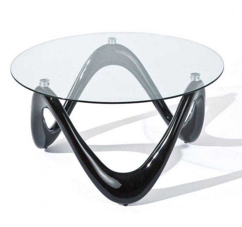 Table basse design valentine en verre et pietement noir - Pietement de table basse ...